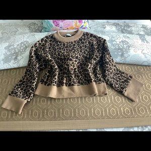 Zara Animal Print Sweater
